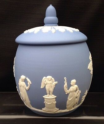 Wedgwood Blue Jasperware - Large Urn & Cover - Great Condition