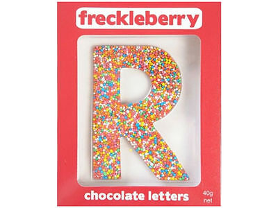 Letter R Chocolate Freckle Letter New Great Unique Gift Present Birthday