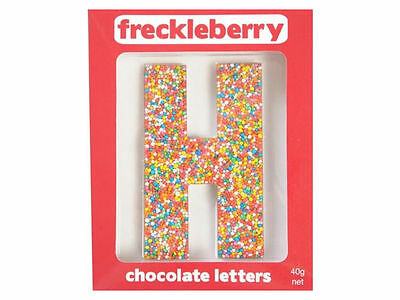 Letter H Chocolate Freckle Letter New Great Unique Gift Present Birthday