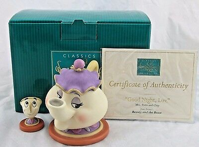"""WDCC """"Goodnight Luv"""" Mrs Potts and Chip from Beauty and the Beast in Box COA"""