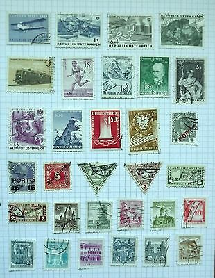 Austria. collection of 31 stamps.      D