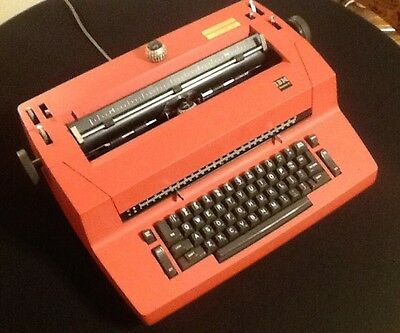 "IBM Selectric II, Rare Red Color, Dual-Pitch Control, 11"" Carriage, Operational"