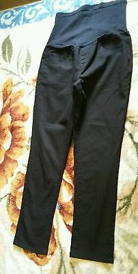 Womens black maternity jeans size L
