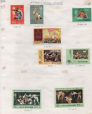 KOREA: 1974 Used Examples - Ex-Old Time Collection - Album Page (5954)