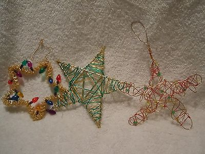 Modern Wire Star Ornaments Set of 3