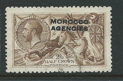 Morocco Agencies 2/6 Used Seahorse Nice Stamp!