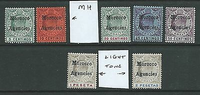 MOROCCO AGENCIES OVERPRINTS ON GIBRALTER EDV11th MH 10Cent MNH OTHERS