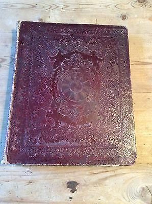 ANTIQUE EARLY 19th Century GEORGIAN/VICTORIAN SCRAP/WATER COLOUR BOOK 1828