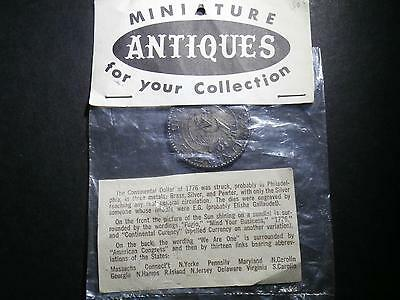 """Representation of 1776 USA dollar - """"We are one"""" memento - not silver / sealed"""
