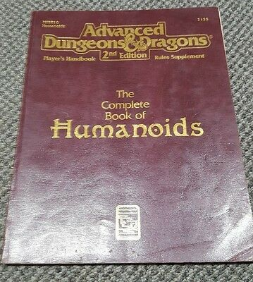 The Complete Book of Humanoids Advanced Dungeons and Dragons AD&D TSR 2135