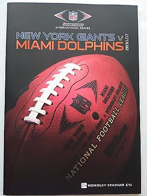2007 New York Giants v Miami Dolphins played at Wembley  28/10/07 CHEAPEST EBAY
