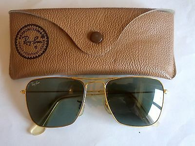 Occhiali Sunglasses Ray Ban Caravan Real Vintage B&l Made In Usa Big Size 58-16