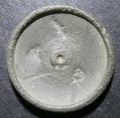 Coin weight - Unknown concave centre - countermarks of samovar & sword 6.18g
