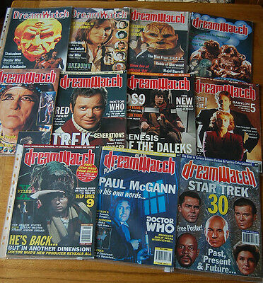 Dreamwatch magazine collection. Bristish sci-fi/fantasy. Doctor Who