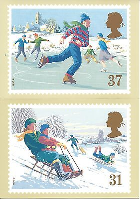U.k. - Christmas 1990, A Royal Mail Stamp Card Series Phq #131 - Unused