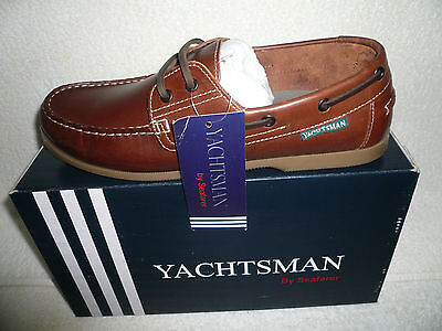 Mens Genuine Brown Leather Yauchtsman Deck Boat Shoe Brand New Size 12 Uk