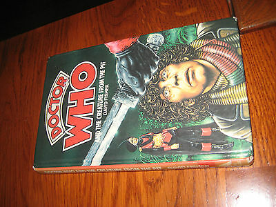 Doctor Who and the creature from the pit hardback book