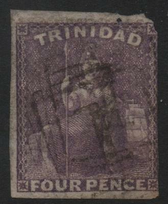 TRINIDAD: 1859 - Sg 40 - 4d Dull Lilac Average Used Example - Cat £80 (6170)