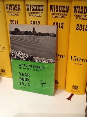 Worcestershire Cricket Year Book 1974