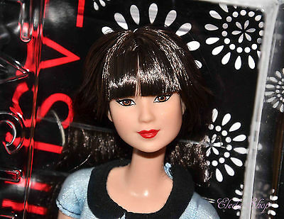 Evolution 2016 Barbie Doll Fashionistas 19 Ruby Red Floral Asian