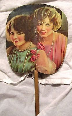 VINTAGE 1900s  ADVERTISING HAND FAN for a Beauty Shop