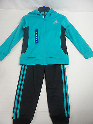 Adidas Girls Tracksuits Teal US Size 6 NWT
