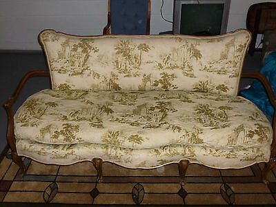 Antique French Walnut Louis XV Canape Sofa 19th Century