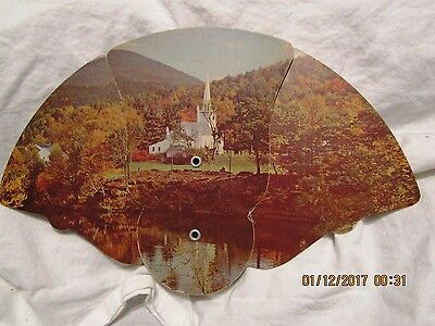 VINTAGE 1900s  ADVERTISING HAND FAN for Chas. Moore Funeral Homes