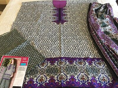 Pakistani Indian Dawood Khadder UN-STITCHED SHALWAR KAMEEZ SUIT Asian Ethnic