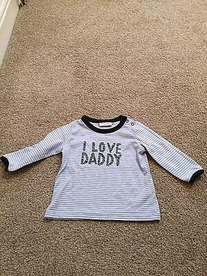 Boys Next I Love Daddy Long Sleeve Top Age 0-3 Months!!