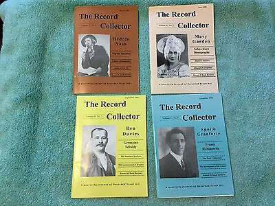 RECORD COLLECTOR 4 ISSUES DISCOGRAPHY RECORD Catalogs Caruso ZONOPHONE McCormack