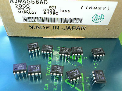 [10 pcs] NJM4556AD (JRC4556AD) JRC DUAL High Current OP AMP case DIP8