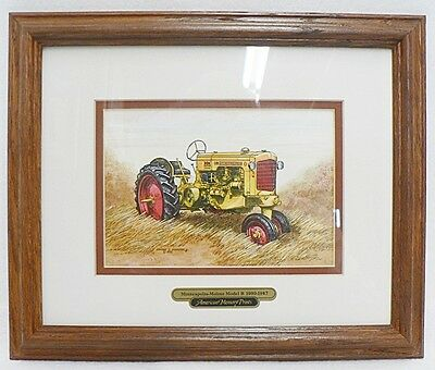 Framed And Matted Minneapolis Moline Tractor Model 9 1939-1947 Picture