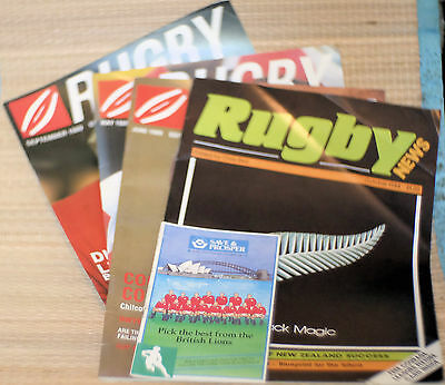 4 Rugby News Magazines 1988-89