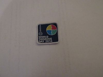 Girl Guides Girl Scouts WAGGGS World Thinking Day 2016 Cloth Badge