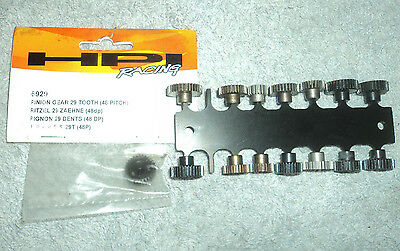 JOB LOT 15 NEW & USED 48DP PINION GEARS 1/10th /12th SCALE. SCHUMACHER HPI LOSI