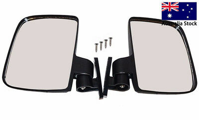 2 X Side Rear View Mirror for EZGO Yamaha Club Car Side Mirrors Golf Cart Parts