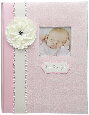 CR Gibson Baby's First Memory Book / Journal (Happi Baby Girl)