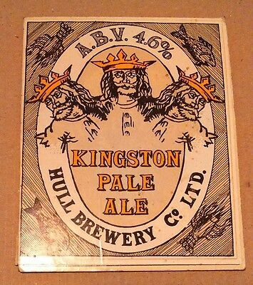 Beer pump badge clip HULL (closed) brewery KINGSTON PALE cask ale pumpclip front