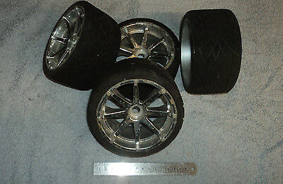RARE HPI PHALTLINE TRUGGY ON-ROAD WHEELS & TYRES. 17mm HEX fit LOSI 8T HYPER ST