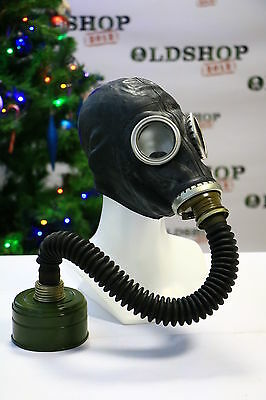 WW2 Gas Mask GP-5 with filter & hose BLACK Soviet Russian NEW Vintage FUNY GIFT