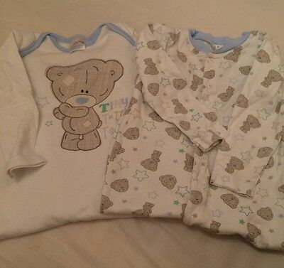 Me To You Tatty Teddy Boys Sleepsuits 9-12 Months