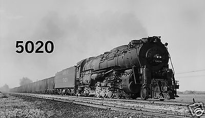 Santa Fe At&sf Action Negative No 5020 2-10-4 Siam Oh On Prr 1956