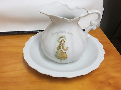 Holly Hobbie Water Pitcher & Base