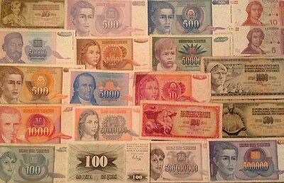 Balkan Banknote Lot. Collection Of 20 X Balkan Banknotes. All Different.