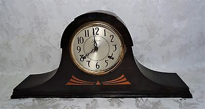 Vintage Sessions Mantle Clock Inlay Eight Day Cathedral Gong Movement