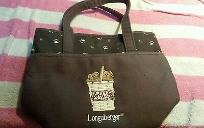 Longaberger Boyd's Bear Country Basket Fest 2007 Tote Brown