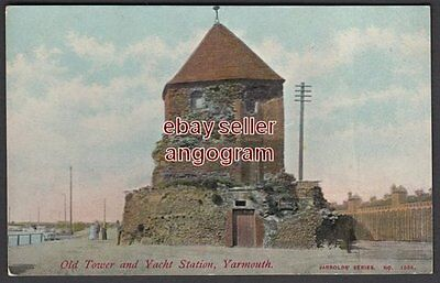 NORFOLK POSTCARD - Old Tower and Yacht Station, Yarmouth 1358