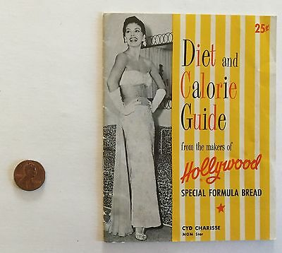 HOLLYWOOD BREAD DIET & CALORIE GUIDE RECIPE JANE RUSSELL ANNE FRANCIS 1950s? 25c