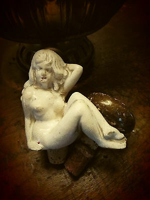 Antique Figural Nude Bottle Stopper....very Early !